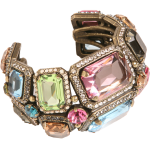 Like a Superheroine's Power Bracelet, But Actually More Beautiful: Lanvin's Strass and Crystal Tutti Frutti Cuff