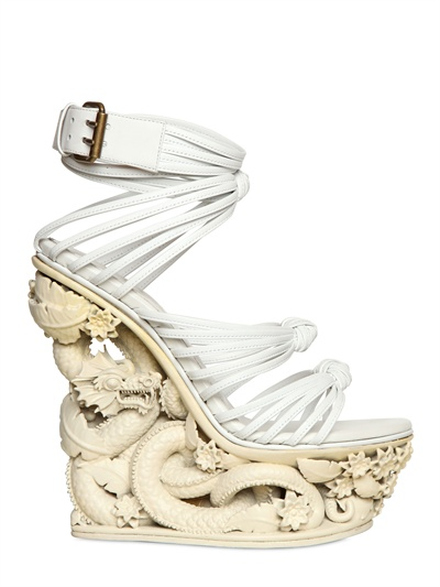 Emilio Pucci Dragon Wedges featured by popular high end fashion blogger, A Few Goody Gumdrops