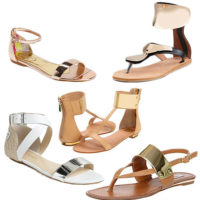 5 Metallic Cuff Sandals to Add Shine to Your Casual Summer Style