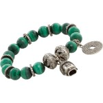It's Time To Go Green with Shashona's Malachite & Diamond Goddess Aphrodite Bracelet!