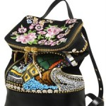 Giuseppe Zanotti Suede Backpack, Patent Leather Sandals, and Floral Embroidered Sneakers: Colorful Crazy Fun