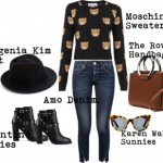 Ushering In Fall with Moschino's Cropped Teddy Bear Sweater