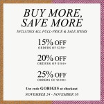 Shopbop BUY MORE, SAVE MORE Event Starts Today!