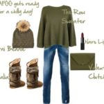 How to Dress For a Chilly Day with a Pop of Moss Green