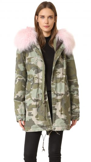 Warm winter boots featured by top high end fashion blog, A Few Goody Gumdrops: image of MR & MRS ITALY camouflage parka jacket