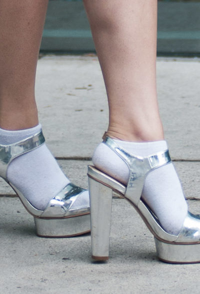 fashion week silver sandals | Trendy Silver Shoes featured by popular high end fashion blogger, A Few Goody Gumdrops