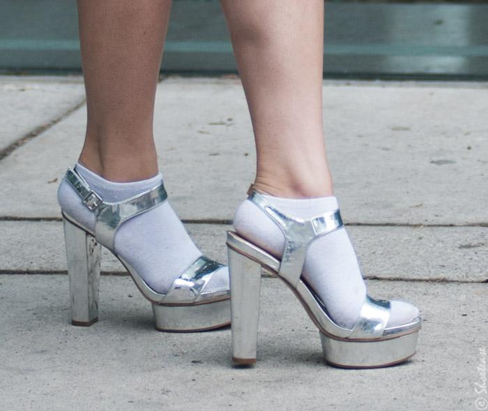 fashion week silver sandals | Trendy Silver Shoes featured by popular high end fashion blogger, A Few Goody Gumdrops