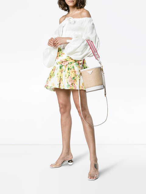 Prada's Summer Collection of Straw Bags featured by popular high end fashion blogger, A Few Goody Gumdrops
