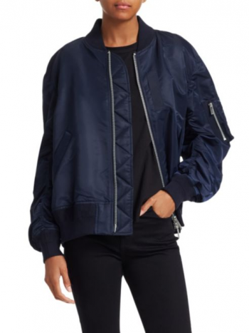 Make a Statement This Fall with a Sacai Bomber Jacket featuring Betsy Brown of popular high end fashion blog, A Few Goody Gumdrops