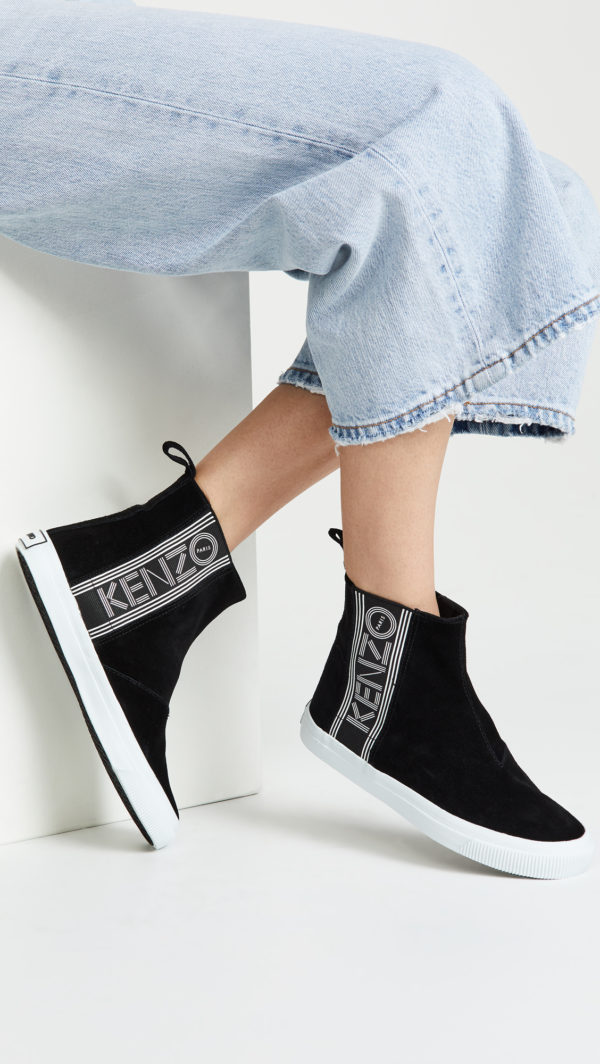 Kenzo collection: Kapri high top sneakers featured by popular high end fashion blogger, A Few Goody Gumdrops