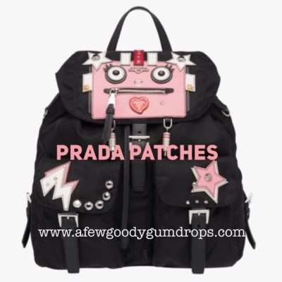 Prada Appliqué Bags featured by popular high end fashion blogger, A Few Goody Gumdrops