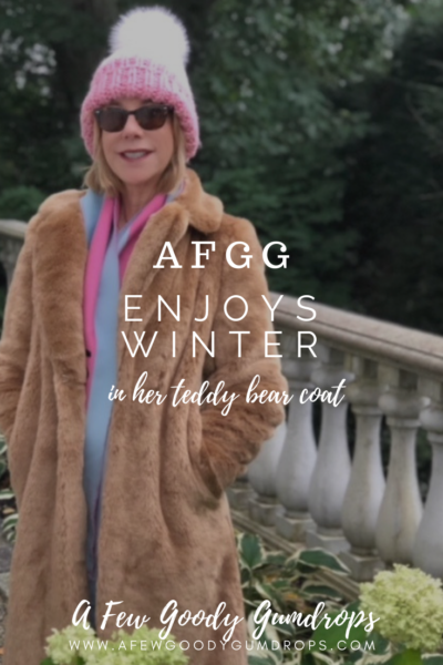 AFGG Enjoys Winter in Her Teddy Bear Coat