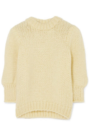 The Latest Ganni Winter Collection featured by top high end fashion blog, A Few Goody Gumdrops: cream sweater