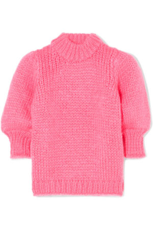 The Latest Ganni Winter Collection featured by top high end fashion blog, A Few Goody Gumdrops: pink sweater