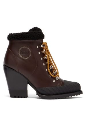 Warm winter boots featured by top high end fashion blog, A Few Goody Gumdrops: image of Rylee Lace Up Leather Boots