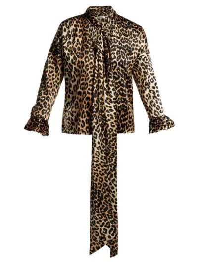 The Latest Ganni Winter Collection featured by top high end fashion blog, A Few Goody Gumdrops: leopard print blouse