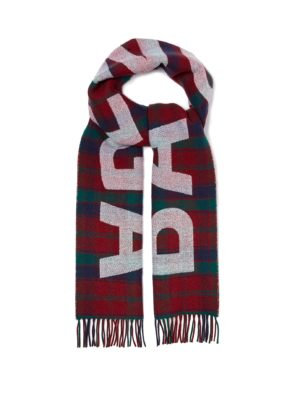 Balenciaga Logos movement featured by top high end fashion blog, A Few Goddy Gumdrops: image of a Balenciaga scarf