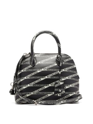 Balenciaga Logos movement featured by top high end fashion blog, A Few Goddy Gumdrops: image of a Balenciaga Ville bag