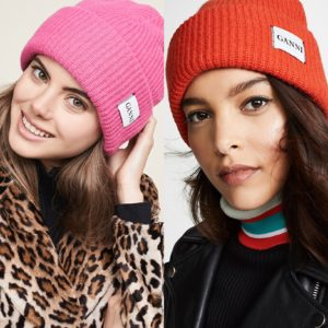 Luxury gift ideas for her featured by top high end life and style blog, A Few Goody Gumdrops: image of Ganni beanies