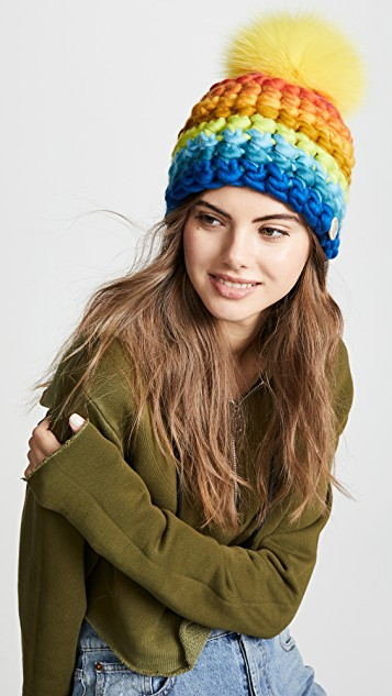 Stay Warm and Fashionable in Chunky Knits featured by top US high end fashion blog, A Few Goody Gumdrops: image of a Mischa Lampert hat