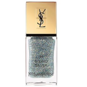 Festive nail polish featured by top high end fashion blog, A Few Goody Gumdrops: image of Yves Saint Laurent Glitter nail polish