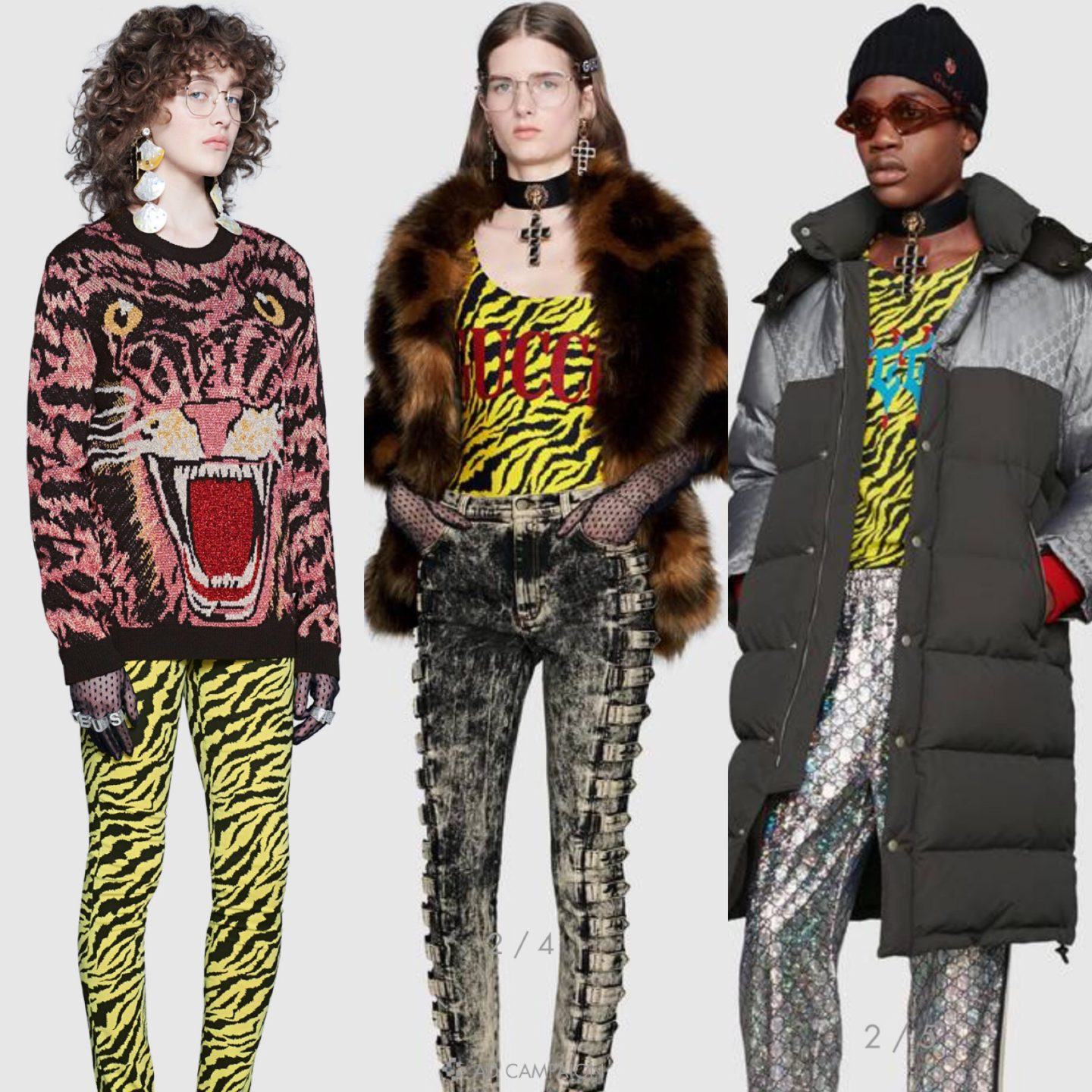 Animal prints fashion featured by top high end fashion blog, A Few Goody Gumdrops: image of a Gucci animal prints pieces