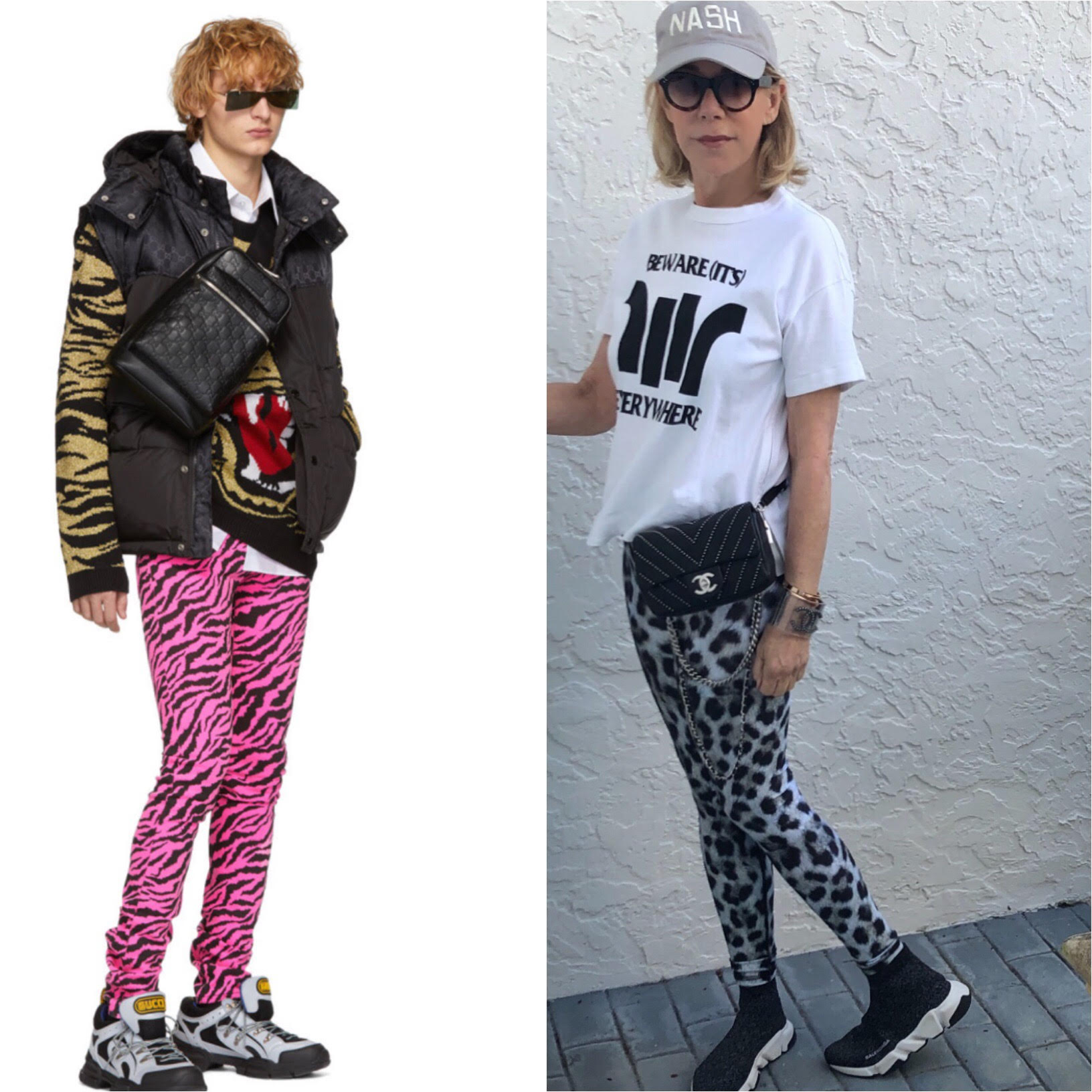 Animal prints fashion featured by top high end fashion blog, A Few Goody Gumdrops: image of a Terez leopard print leggings