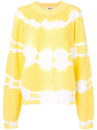 A Few Goody Gumdrops shares her renewed love of tie dye fashion from the hippie era: image of MSGM yellow and white tie dye sweater