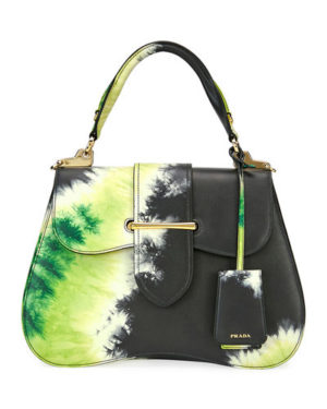 A Few Goody Gumdrops shares her renewed love of the tie dye fashion from the hippie era: image of a tie dye Prada bag.