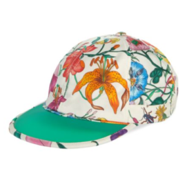 Trendy designer baseball caps featured by top US fashion blog, A Few Goody Gumdrops: image of a Gucci floral baseball cap