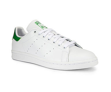 The White Sneaker Trend reviewed by top US high end fashion blog, A Few Goody Gumdrops: image of Adidas white sneakers