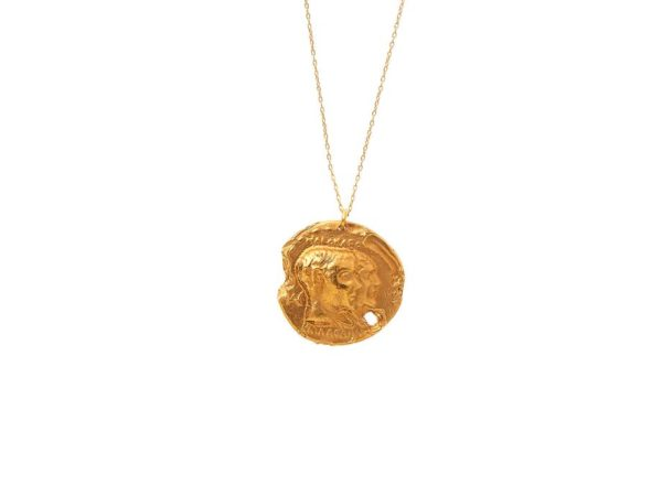 Top US High end fashion blog, A Few Goody Gumdrops shares the latest gold coin necklaces: image of Alighieri gold coin necklaces