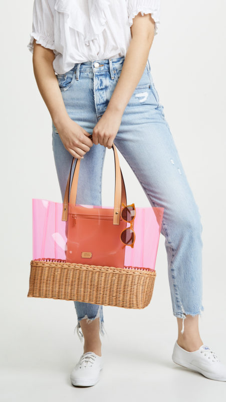 Must-Have Cute Beach Bags For Summer featured by top US high end fashion blog, A Few Goody Gumdrops: image of a Frances Valentine tote