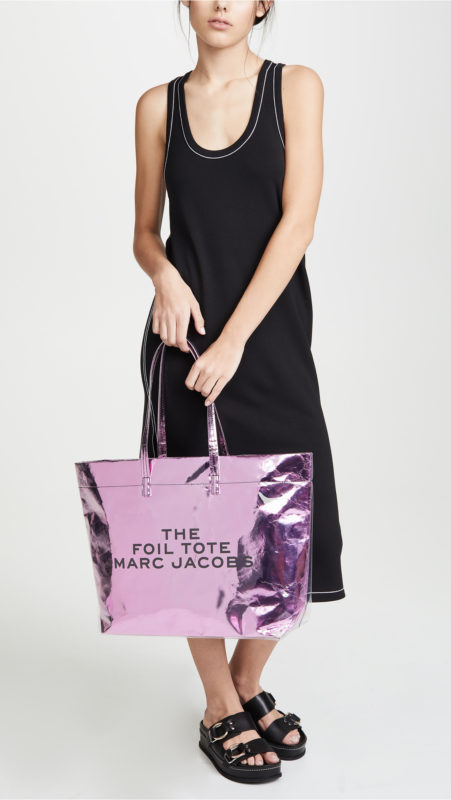 Must-Have Cute Beach Bags For Summer featured by top US high end fashion blog, A Few Goody Gumdrops: image of  Marc Jacobs Foil Tote