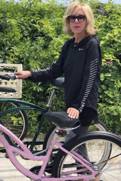 Betsy on a bicycle
