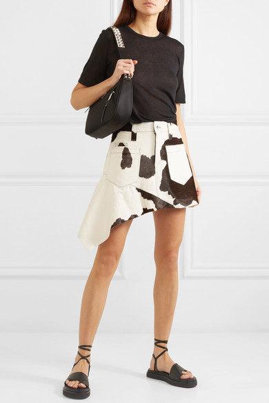 Fall trends featured by top US high end fashion blog, A Few Goody Gumdrops: image of Marques' Almeida calf hair mini skirt