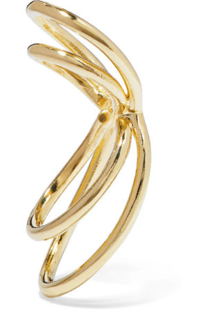 Jennifer Fisher Hoops featured by top US high end fashion blog, A Few Goody Gumdrops: image of Jennifer Fisher gold plated ear cuffs