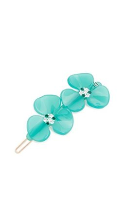 Trendy Hair Clips and Barrettes featured by top US high end fashion blog, A Few Goody Gumdrops: image of an Alexandre de Paris floral barette