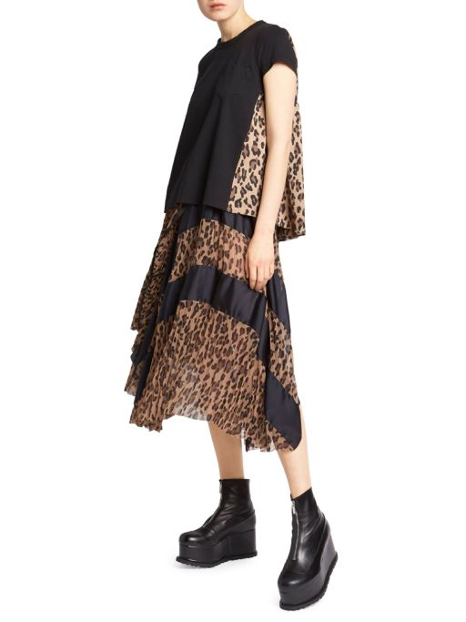 Fall trends featured by top US high end fashion blog, A Few Goody Gumdrops: image of Sacai leopard tee