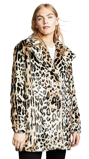 Fall trends featured by top US high end fashion blog, A Few Goody Gumdrops: image of a leopard jacket found on Shopbop