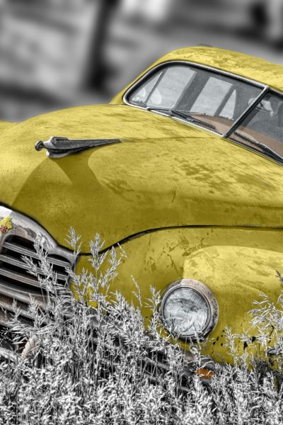 Tips on collisions featured by top US high end fashion blog, A Few Goody Gumdrops: image of yellow car