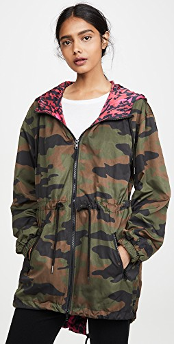 Fall trends featured by top US high end fashion blog, A Few Goody Gumdrops: image of an army print jacket