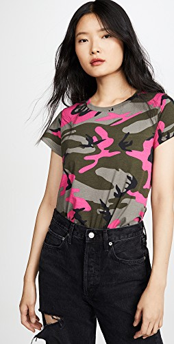 Fall trends featured by top US high end fashion blog, A Few Goody Gumdrops: image of an army print tee