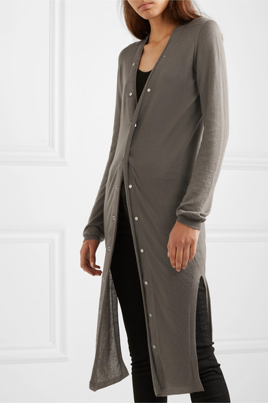 Cute long fall cardigans featured by top US luxury fashion blog, A Few Goody Gumdrops: image of Rick Owens duster