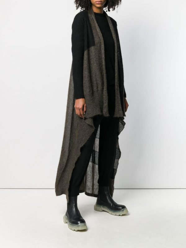 Cute long fall cardigans featured by top US luxury fashion blog, A Few Goody Gumdrops: image of Rick Owens long wrap duster