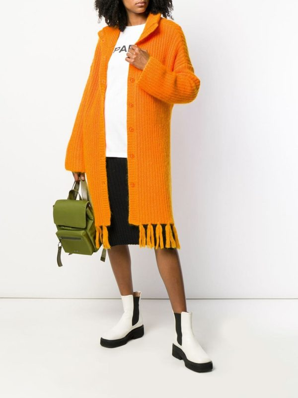 Cute long fall cardigans featured by top US luxury fashion blog, A Few Goody Gumdrops: image of Kenzo long cardigan