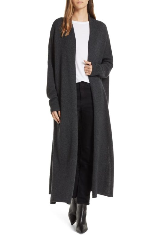 Cute long fall cardigans featured by top US luxury fashion blog, A Few Goody Gumdrops