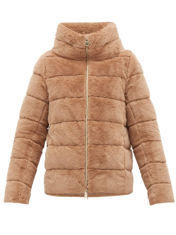 Herno jackets shopping guide featured by top US high end fashion blog, A Few Goody Gumdrops: image of Herno faux fur puffer jacket
