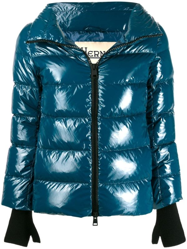 Herno jackets shopping guide featured by top US high end fashion blog, A Few Goody Gumdrops: image of Herno cropped puffer jacket