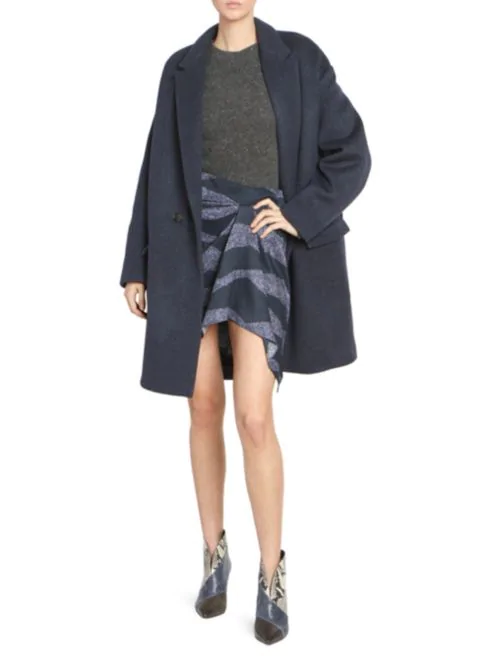Cocoon winter coat shopping guide featured by top US high end fashion blog, A Few Goody Gumdrops: image of Isabel Marant cocoon winter coat